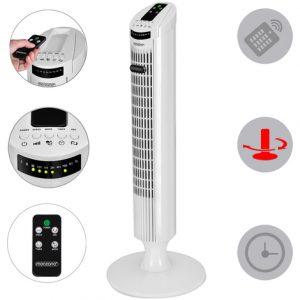 Ventilateur colonne oscillant blanc