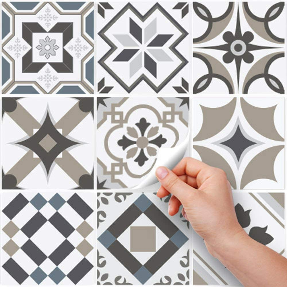 Carrelage Mural Adh/ésif 3D Autocollant Mural Imperm/éable Auto-adh/ésif en Forme de Brique la Salle de Bain la Cuisine Blanc 10 Pi/èces 22 x 22 cm