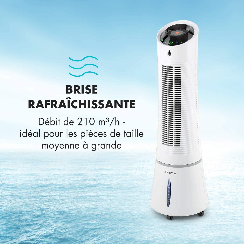Klarstein Skyscraper Ice Summer Edition • Refroidisseur 4-en-1 • Ventilateur • Fonctions humidification et Nettoyage