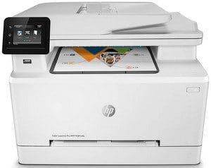 Teste de impressora a laser colorida HP M281FDW Color LaserJet Pro