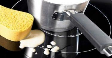 Bien nettoyer une plaque à induction ou vitrocéramique