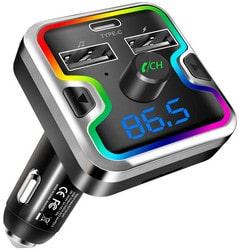 Clydek Transmetteur FM, Bluetooth 5.0 Adaptateur Autoradio avec Port de Chargement PD18w de Type C