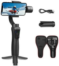 S5 Gimbal para Smartphone Estabilizador Gimbal Extensível Estabilizador de Objetos de Rastreamento Horizontal e Modo Vertical
