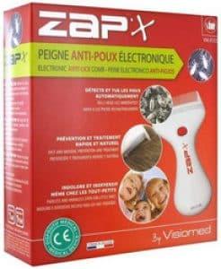 Peigne à poux électrique Visiomed Zap'X