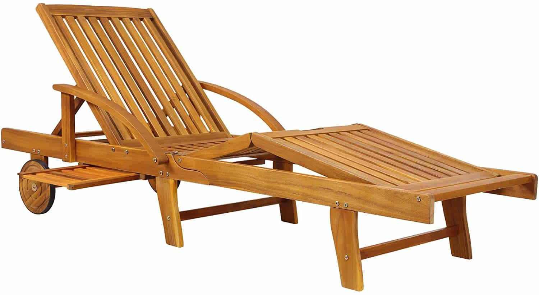Bain de soleil en bois d'acacia Deuba