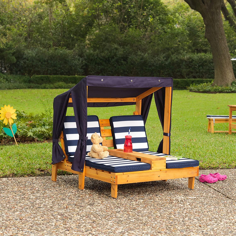 Double bain de soleil en bois pour enfant KidKraft 524