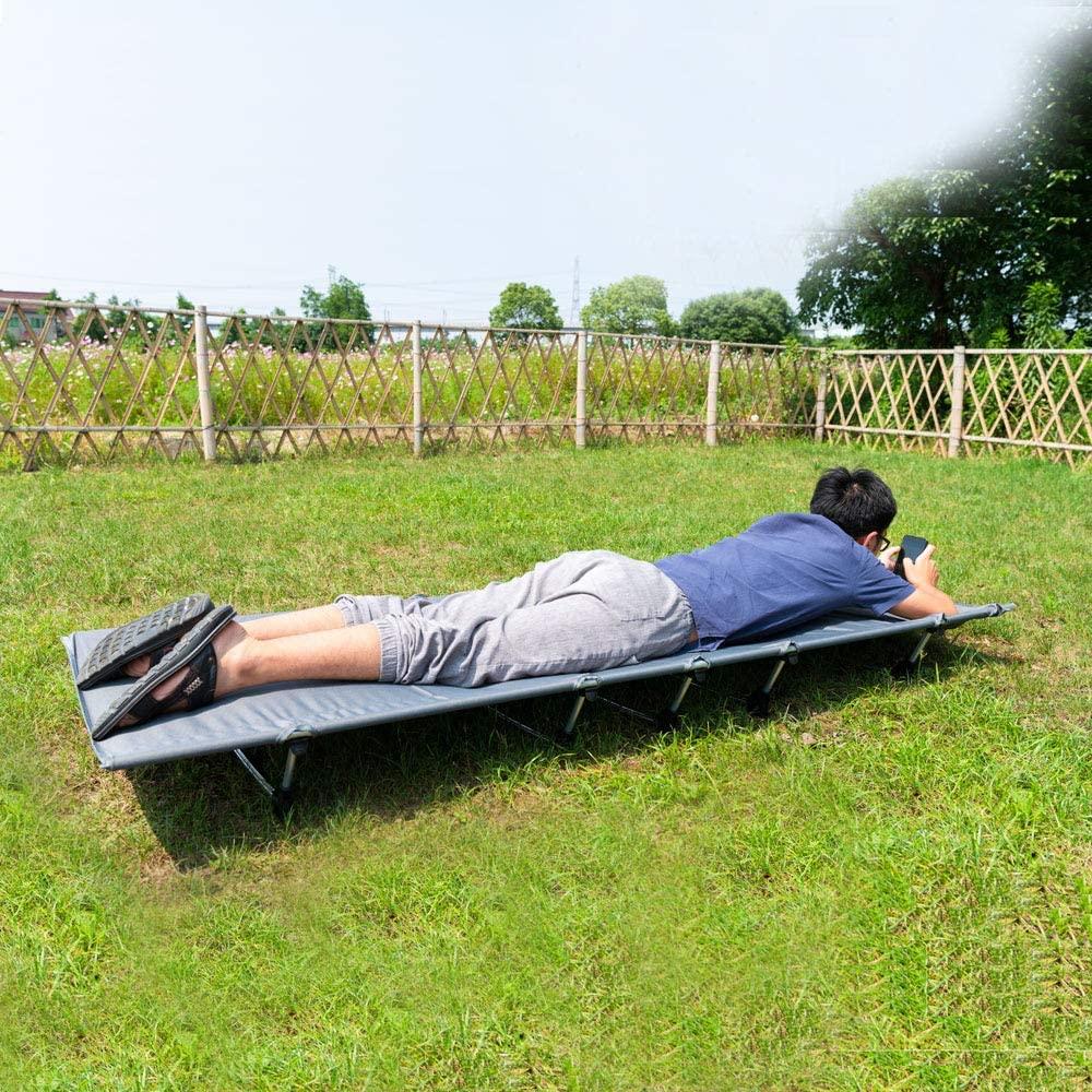 Lit de Camp Pliable 1 Personne Adulte Compact Camping