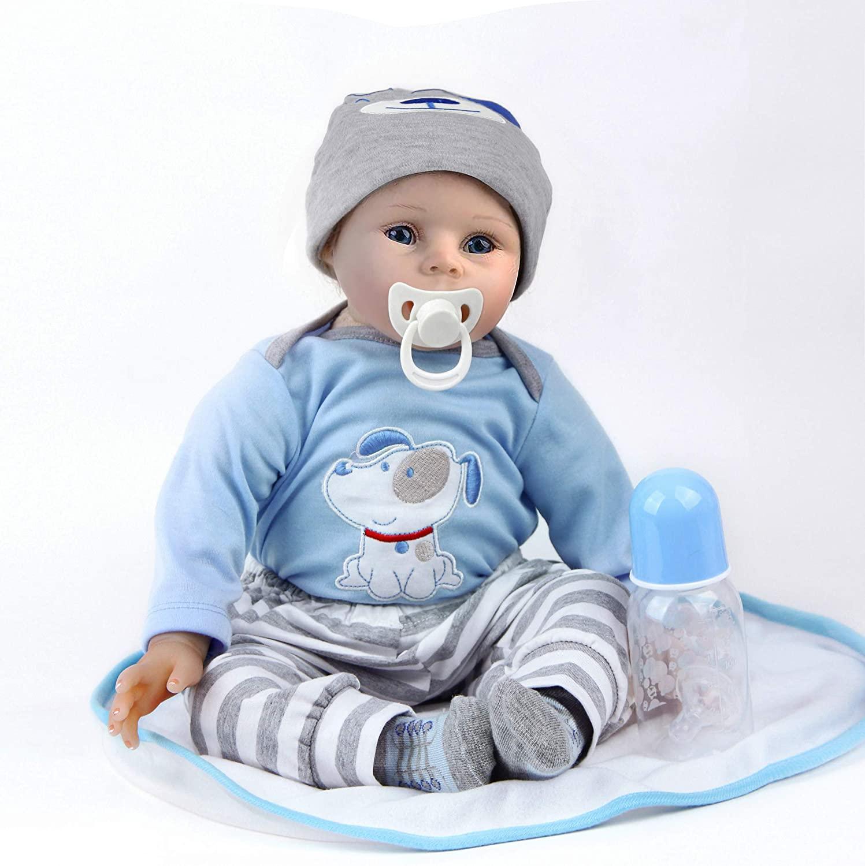bébé reborn garçon yeux ouverts Antboat